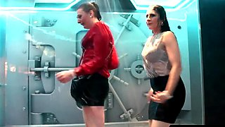 Wetlook girls dancing in the shower room 2