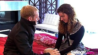 Horny couples experimenting in swinger reality show