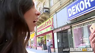 BoxTruckSex - Lesbian seduces straight girl in public - Massage Gone Wild