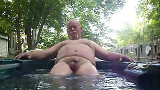 Getting hard in Hot tub
