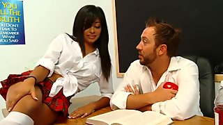 Naughty Latina Schoolgirl Seduces Her Teacher