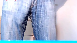 Bulge in light Jeans - from soft to cum - buddylongdong