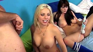 Juggy bitches Sophie Dee And Britney Amber taking part in foursome orgy