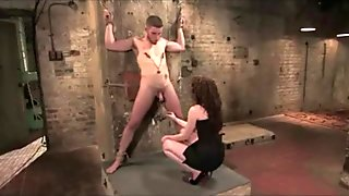 Mistress is playing with Slave in her Dungeon