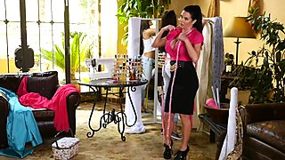 Adria Rae seduced by sexy seamstress Veronica Avluv