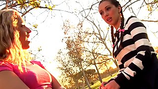 WANKZ- Lesbian Prankster Goldie Seduces Teen Jenna Sativa