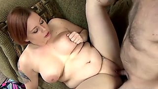 Busty swinger Tiffany Blake takes a cock in her plump twat