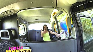FemaleFakeTaxi Hot lesbian fun in British cab