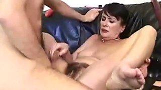 Old aged lady masturbating and fucking