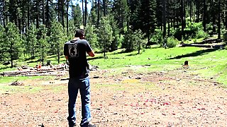 Straight Guy Makes wife Shoot Gun