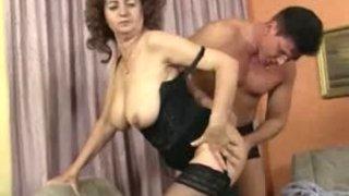 Grandma Plays in Stockings 1
