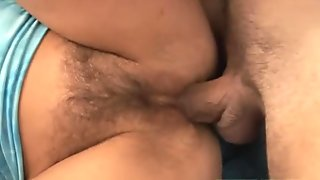She loves having cock in bushy butthole