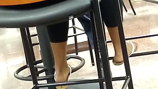 Candid Ebony Feet in Cafeteria 14