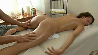 Massage session for excited girl