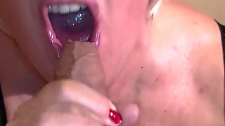messy blowjob and facial