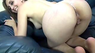 Amateur Girl Fucked By Creep On Blue Sofa