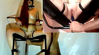 Bondage Chair Orgasm Really Nice
