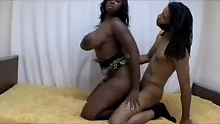 Terrific chunky black cowgirl Delotta Brown goes nuts about doggy fuck