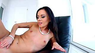 GiveMePink Dildo play for pretty Tina Teen