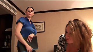 POV dick spanking british babes in trio