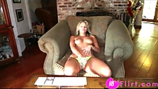 Beautiful blond coed Nadia masturbates a sweet pussy - 18flirt.com