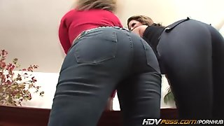 HDVPass Sara Jay and Lisa Sparxxx Tag Team a Lucky Guy