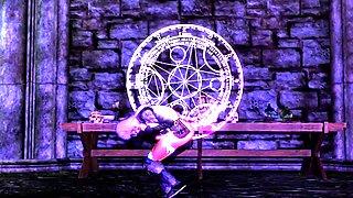 Skyrim sexy dance -Cyber Thunder Cider- HDT (futanari)