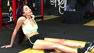 TeamSkeet - Hot Ebony Babe Fucked After Workout