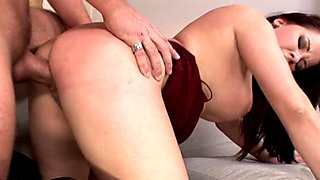 Teri Sweet bends over and gets pounded by a huge cock