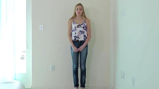 Netvideogirls - Blonde Teen gets an ambush creampie at Calendar Audition