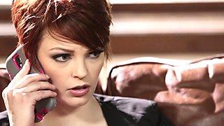 Redhead lesbian scissoring her gorgeous lover
