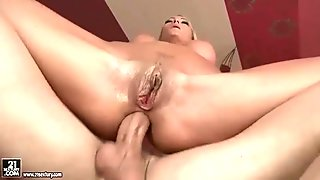 Gorgeous MILF gives blowjob and gets her ass fucke