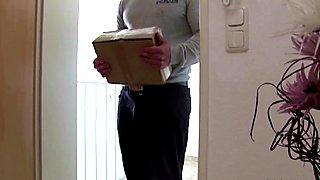 German Teen Seduce Postman to Fuck when Mom away