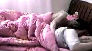 Asian girl fucks her bf and gets disturbed by her girl