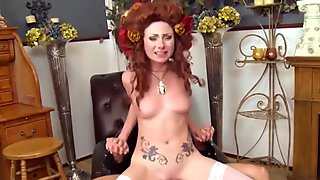Costume loving housewife stripped and fucked