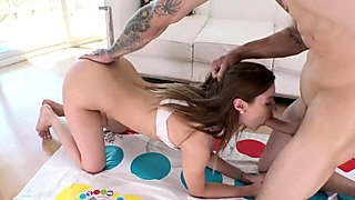 Big ass teen Alaina Dawson plays and blowjob and fucks