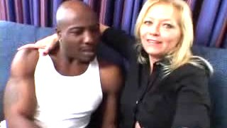 Hot MILF gets a big black dick in her ass