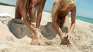 Kacey & Kara - Blonde Beach Brats Get Blasted