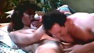 Ginger Lynn Allen Traci Lords Tom Byron in classic porn clip