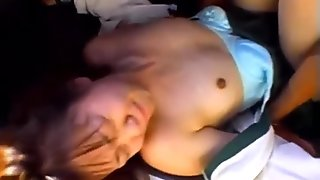 Slave girl sucks big rods